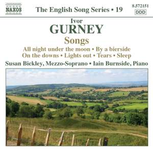 The English Song Series Volume 19 - Ivor Gurney Songs Product Image