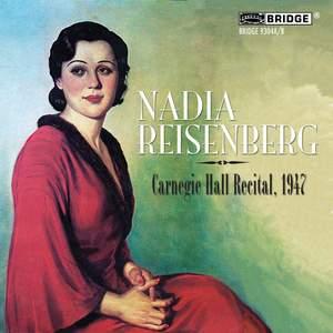 Nadia Reisenberg at Carnegie Hall