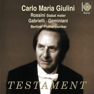 Carlo Maria Giulini conducts Rossini, Gabrielli & Geminiani