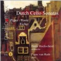 Dutch Sonatas for Violoncello and Piano Volume 1
