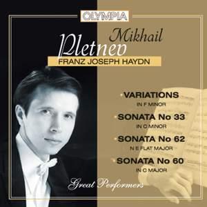 Haydn: Piano Sonatas Nos. 33, 62 & 60