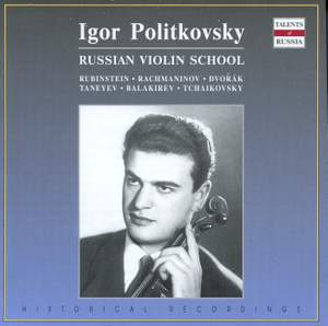 Taneyev & Rubinstein: Violin Sonatas
