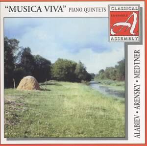 Alabieff, Arensky, Medtner: Piano Quintets