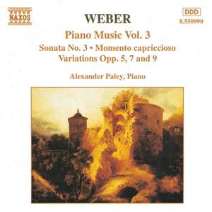 Weber: Piano Music Vol. 3