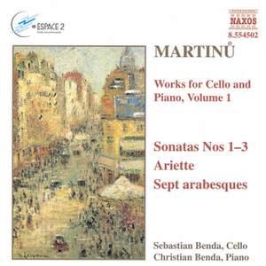 Martinu: Works for Cello & Piano, Vol. 1