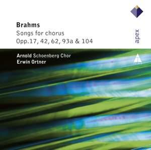 Brahms - Songs For Chorus