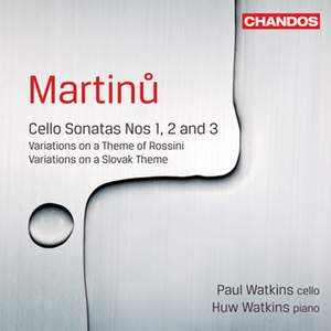 Martinu - Cello Sonatas Nos. 1, 2 & 3