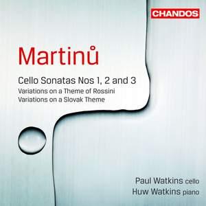 Martinu - Cello Sonatas Nos. 1, 2 & 3 Product Image