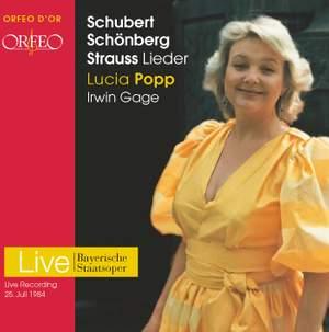 Lieder by Schubert, Strauss & Schoenberg
