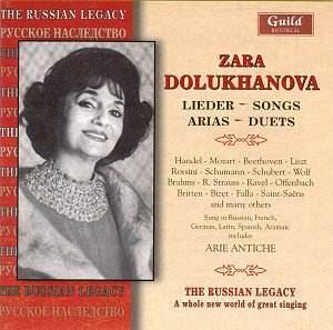 Zara Dolukhanova: Lieder, Songs, Arias and Duets