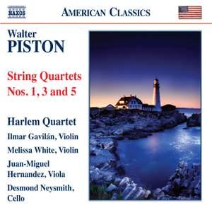 Walter Piston: String Quartets Nos. 1, 3 & 5 Product Image