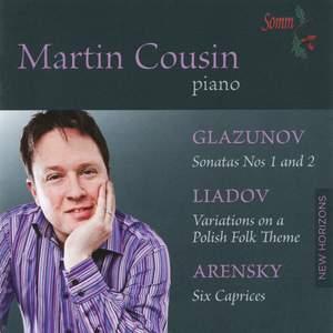Martin Cousin plays Glazunov, Liadov & Arensky