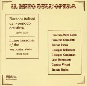 Italian Baritones of the Acoustic Era