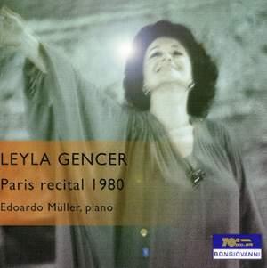 Leyla Gencer: Paris recital 1980
