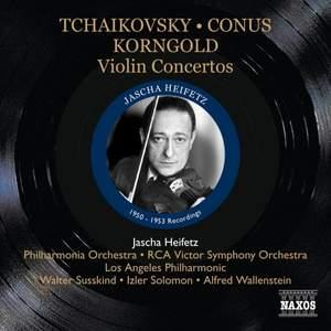 Jascha Heifetz plays Tchaikovsky, Conus, Sarasate & Korngold Product Image