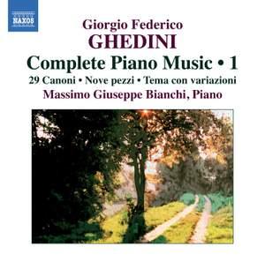 Ghedini: Complete Piano Music Volume 1