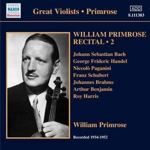 William Primrose Recital Volume 2