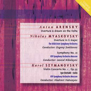Arensky, Miaskovsky and Szymanovsky: Orchestral Works