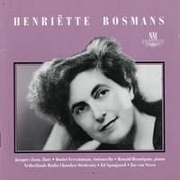 Bosmans: Concertstuk voor fluit en kamerorkest/Poeme voor c