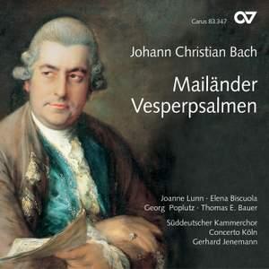 JC Bach: Mailänder Vesperpsalmen