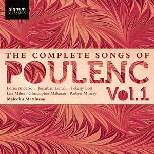 The Complete Songs of Francis Poulenc Volume 1 Product Image