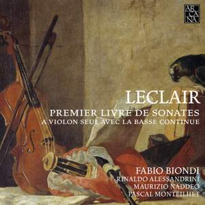 Jean-Marie Leclair: First Book of Sonatas for Solo Violin with Basso Continuo Product Image