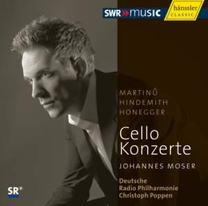Martinu, Hindemith & Honegger: Cello Concertos