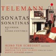 Telemann: Sonatas and Sonatinas for Recorder and Basso Continuo