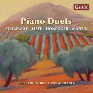 Piano Duets by Liste, Honegger, Schaeuble, Martin