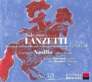 Salvatore Lanzetti: Sonatas for Cello