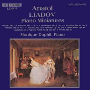 Liadov: Piano Miniatures