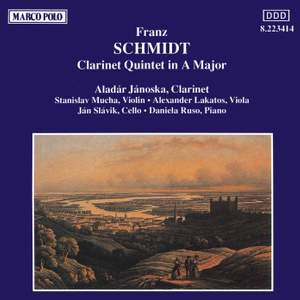 Schmidt, F: Quintet for clarinet, strings & piano in A major Product Image