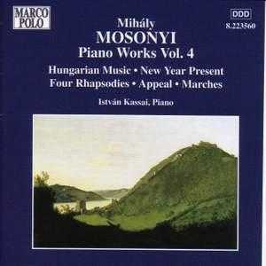 Mihaly Mosonyi: Piano Works Vol. 4