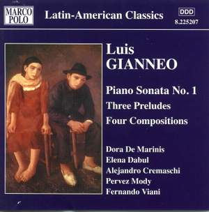 Luis Gianneo: Complete Piano Works Vol. 3