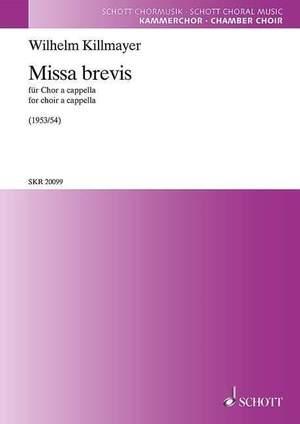 Killmayer, W: Missa brevis