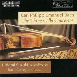 CPE Bach: Cello Concertos Nos. 1-3