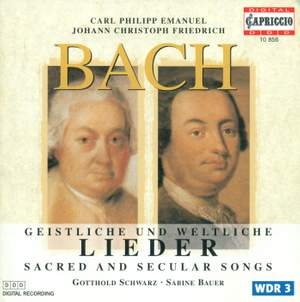 CPE & JCF Bach: Sacred & Secular Songs