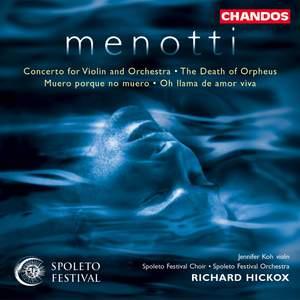 Menotti: Violin Concerto, etc.