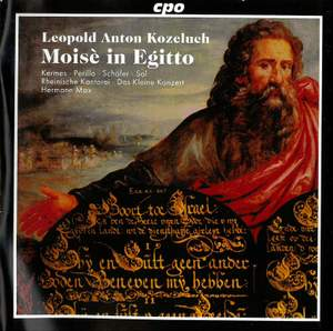 Kozeluch: Moisè in Egitto (Moses in Egypt) Product Image