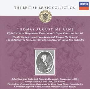British Music Collection - Thomas Augustine Arne