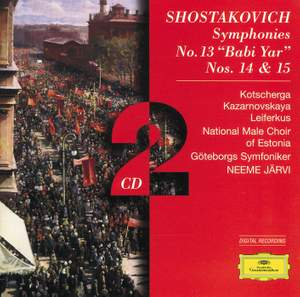 Shostakovich: Symphony No. 13 in B flat minor, Op. 113 'Babi Yar', etc.