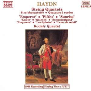 Haydn: String Quartet, Op. 76 No. 2 in D minor 'Fifths', etc.
