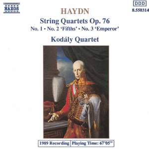 Haydn: String Quartet, Op. 76 No. 1 in G major, etc. Product Image