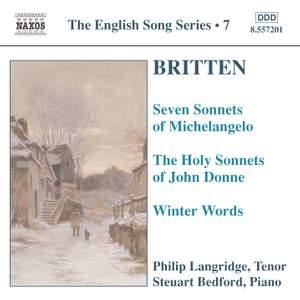 The English Song Series Volume 7 - Benjamin Britten 1