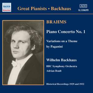 Great Pianists - Wilhelm Backhaus Product Image