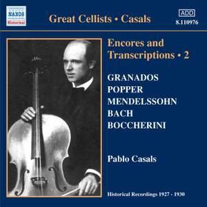 Great Cellists - Pablo Casals Product Image