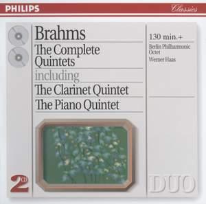 Brahms: Piano Quintet in F minor, Op. 34, etc.
