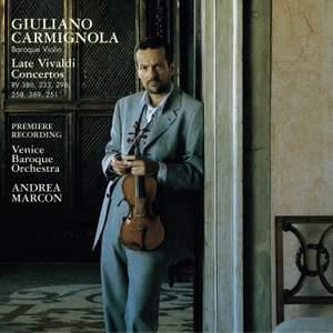 Vivaldi: The Late Violin Concertos