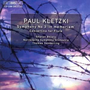 Kletzki: Symphony No. 3 & Concertino for flute