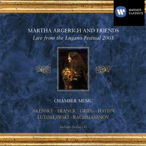 Martha Argerich & Friends: Live from the Lugano Festival 2003